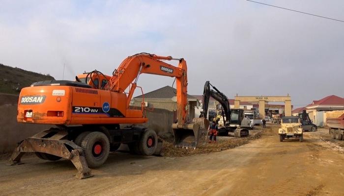 Агентство о реконструкции дорожной инфраструктуры в Абшеронском районе