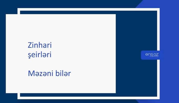 Zinhari - Məzəni bilər