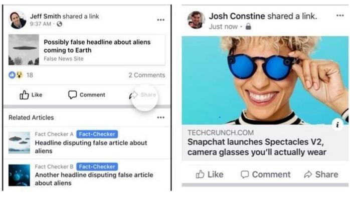 Facebook-da artıq yalan xəbərlərin ölçüsü normadan daha kiçik görünəcək