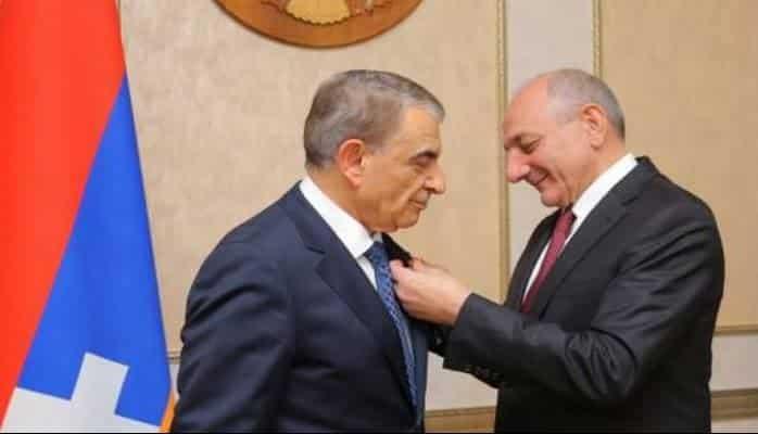 Ermənistanın parlament sədri Yeni ildə Azərbaycanda orden aldı