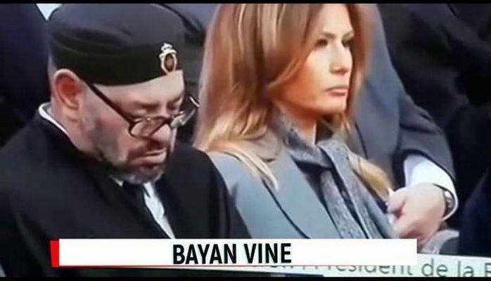 Король Марокко уснул рядом с первой леди США, реакция Трампа