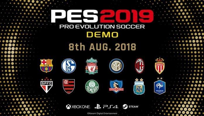 Pro Evolution Soccer 2019 oyununun demo-versiyası işıq üzü gürüb