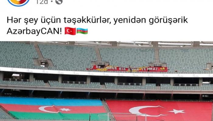 """""""Qalatasaray"""" Azərbaycana təşəkkür etdi"""
