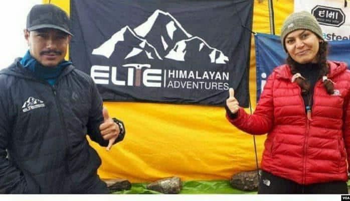 Təbrizli qadın alpinist Himalay zirvəsini fəth edib