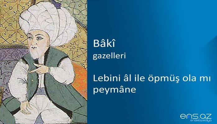 Baki - Lebini al ile öpmüş ola mı peymane