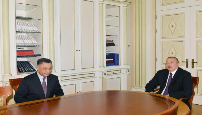 Президент Ильхам Алиев принял Рамиля Усубова