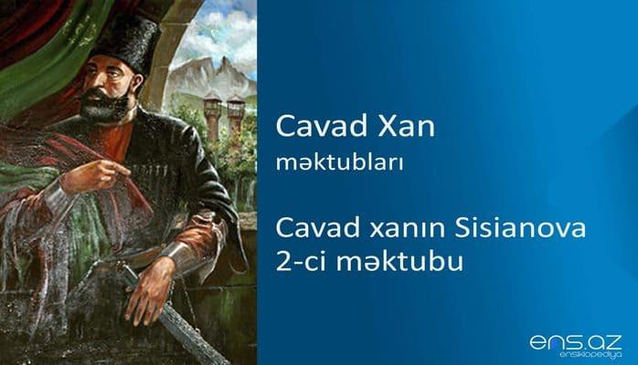 Cavad xan - Cavad xanın Sisianova 2-ci məktubu