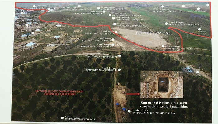 Gəncədə kurqanlardan ibarət arxeoloji park yaradılacaq