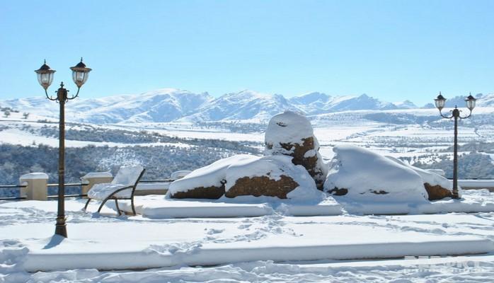 В Нахчыване высота снежного покрова достигла 40 см