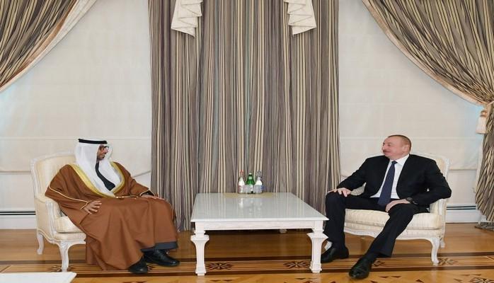 Президент Ильхам Алиев принял министра энергетики и промышленности ОАЭ