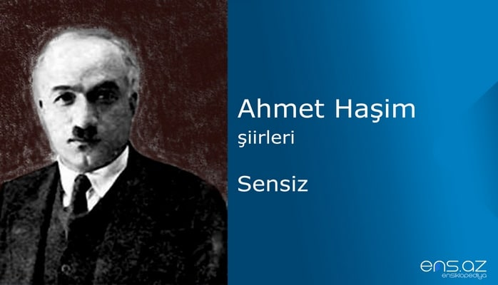 Ahmet Haşim - Sensiz