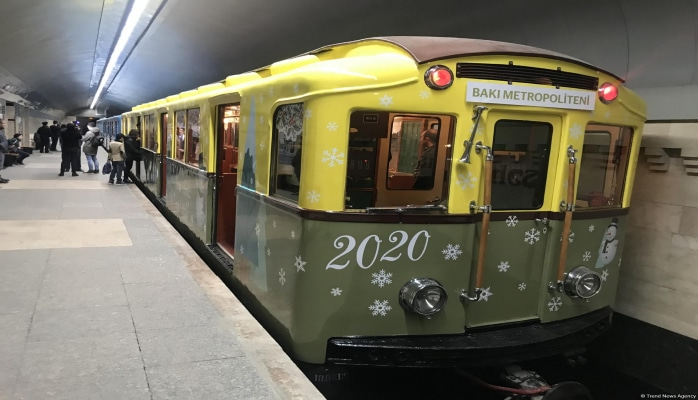 Новый год в бакинском метро – ностальгическое путешествие в ретро-вагонах