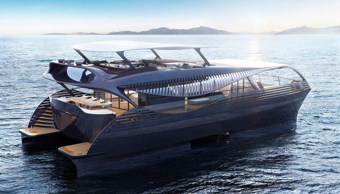 Tesla на воде. Представлена люксовая яхта на солнечных батареях