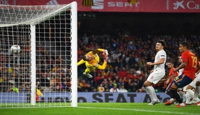 Сборная Англии одержала победу над Испанией в матче Лиги наций УЕФА