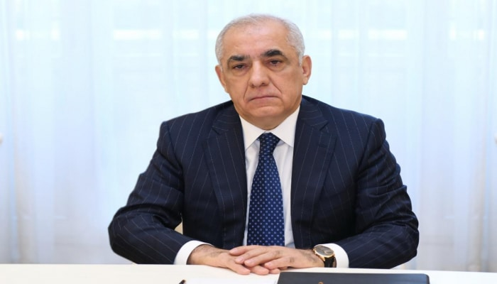 Али Асадов представляет отчет правительства на онлайн-заседании Милли Меджлиса