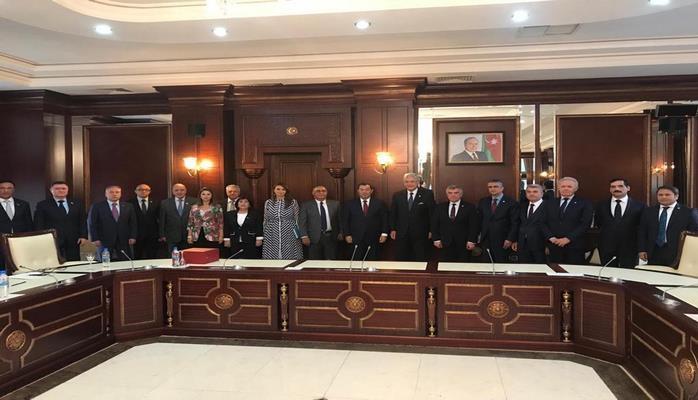 Делегация Великого национального собрания Турции провела встречи в парламенте Азербайджана