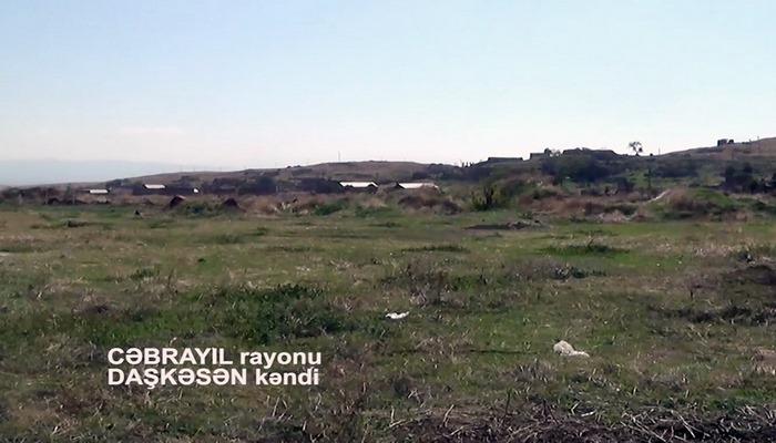Cəbrayıl rayonunun işğaldan azad olunan Daşkəsən kəndinin videogörüntüsü