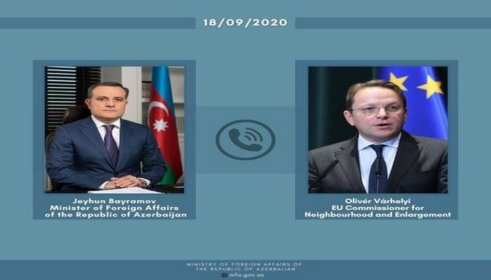 Ceyhun Bayramov və Avropa İttifaqının komissarı müzakirə apardılar