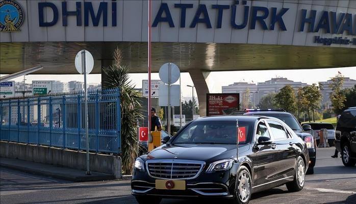 Президент Турции отбыл в Баку