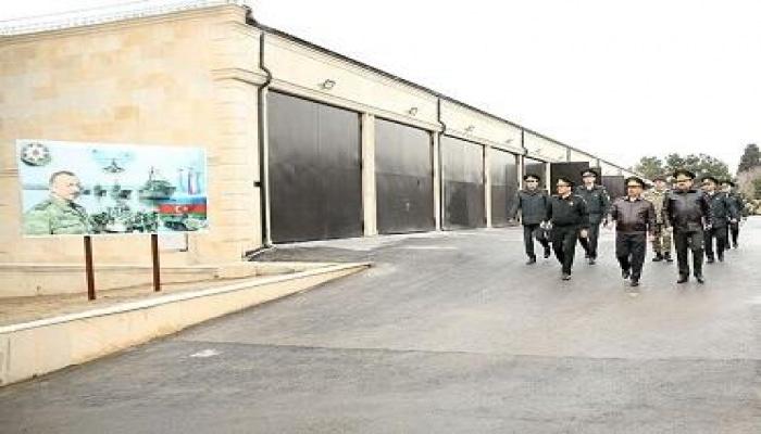 Закир Гасанов на открытии объектов военного назначения