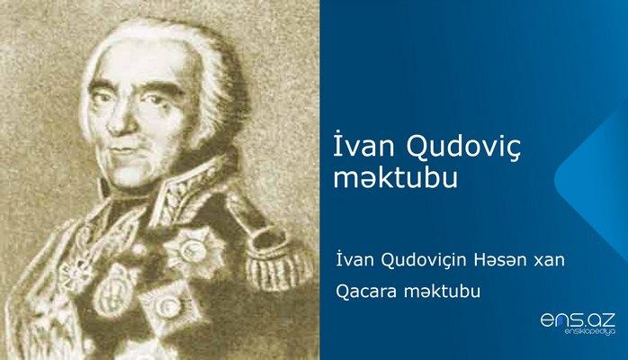 İvan Qudoviç - İvan Qudoviçin Həsən xan Qacara məktubu