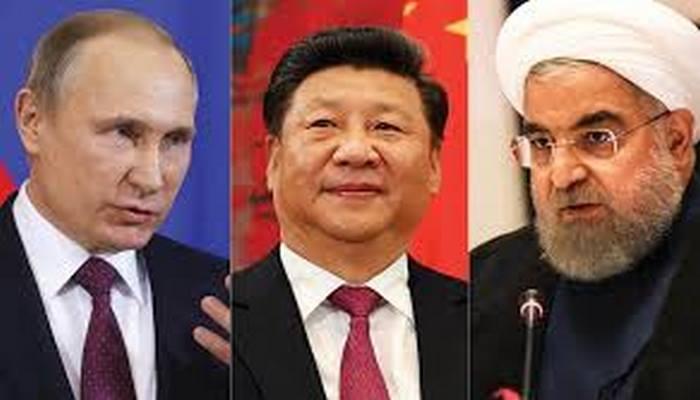 Çin, Rusiya və İran ABŞ-a qarşı birləşir