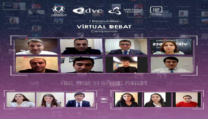 """""""COVID-19"""" mövzusunda keçirilən """"I Respublika Virtual Debat Çempionatı""""nın bağlanış mərasimi keçirilib"""