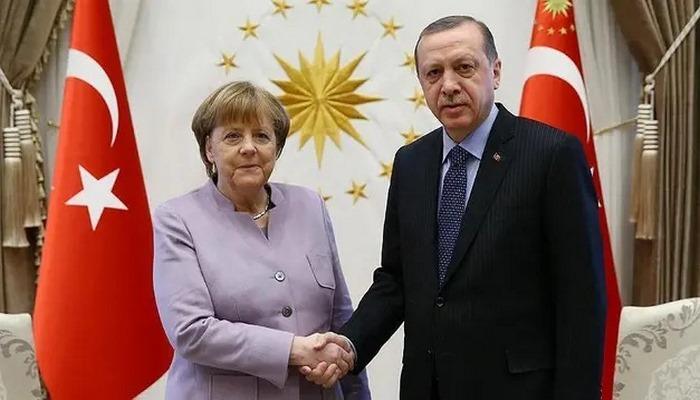 Cumhurbaşkanı Erdoğan ile Merkel arasında Doğu Akdeniz görüşmesi