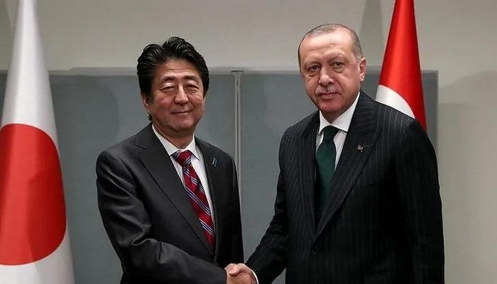 Cumhurbaşkanı Erdoğan, Japonya Başbakanı Şinzo Abe ile görüştü