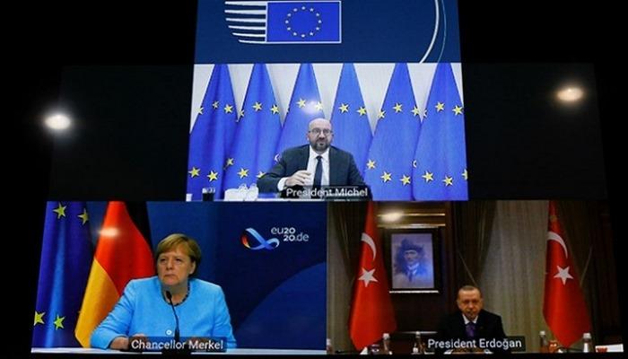 Cumhurbaşkanı Erdoğan, Merkel ve Michel ile Doğu Akdeniz'i görüştü