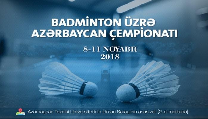 Badminton üzrə Azərbaycan çempionatı keçiriləcək