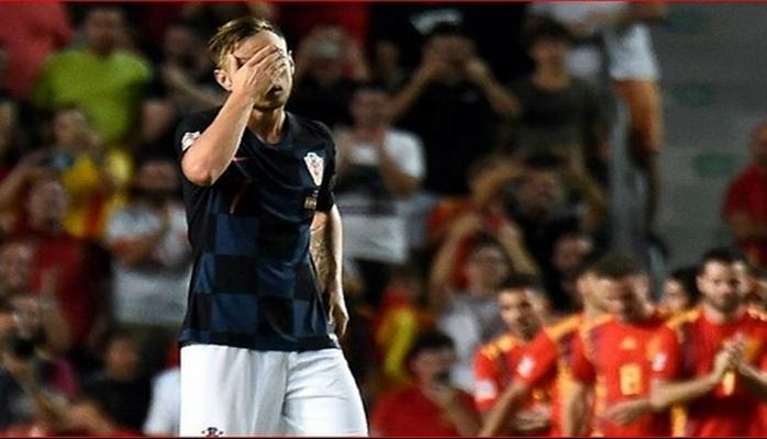 UEFA Millətlər Liqası: İspaniya DÇ-2018-in finalçısı Xorvatiyanı 6:0 məğlb edib
