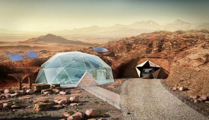 Arxitektorlar Mars kolonistləri üçün gələcək evlərin çertyojunu göstərdilər