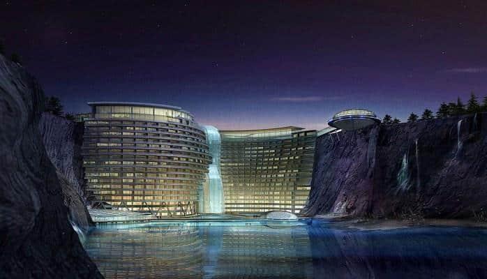 Dünyanın ilk 5 ulduzlu yeraltı oteli inşa edilib