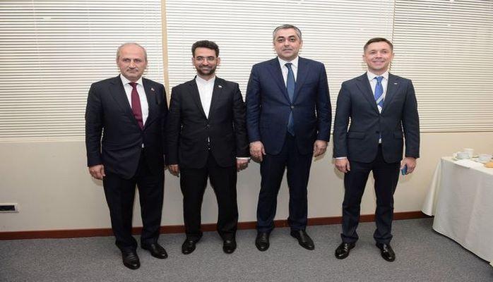 Azərbaycan, İran, Rusiya və Türkiyənin İKT nazirləri görüşüb