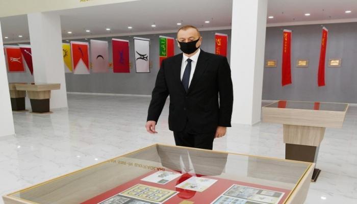 Президент принял участие в открытии Музея госсимволов в Тертере