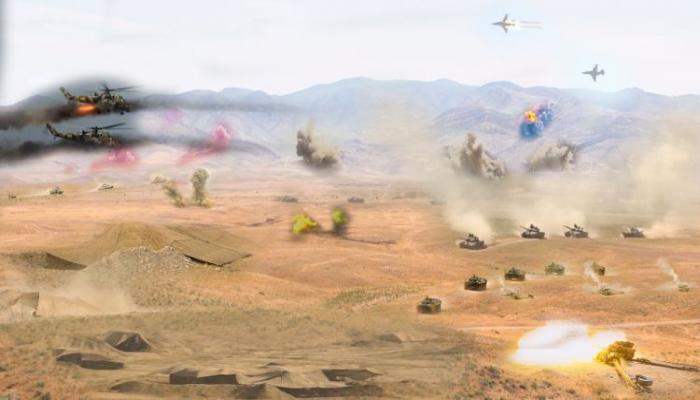 В войсках Нахчыванского гарнизона продолжаются командно-штабные учения