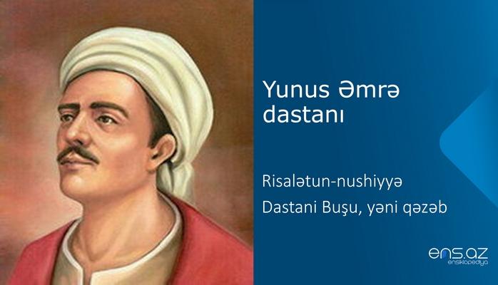 Yunus Əmrə - Risalətun-nushiyyə - Dastani Buşu, yəni qəzəb