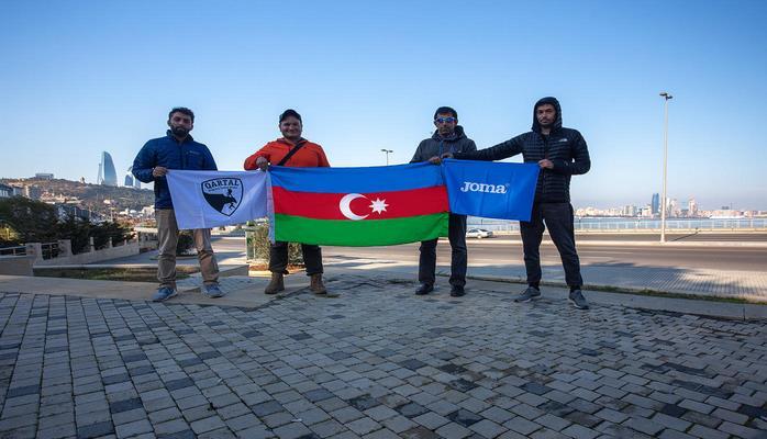Азербайджанские спортсмены совершили пеший поход на 100 км