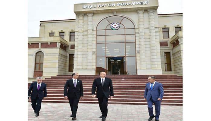 Президент Ильхам Алиев ознакомился с условиями, созданными в новом здании Имишлинского районного суда