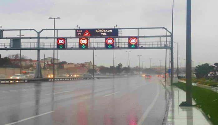 На этих дорогах Баку снижена скорость движения автомобилей