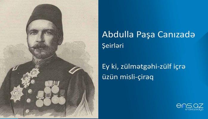 Abdulla Paşa Canızadə - Ey ki, zülmətgəhi-zülf içrə üzün misli-çiraq