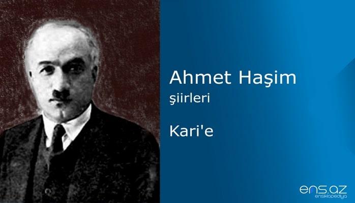 Ahmet Haşim - Karie