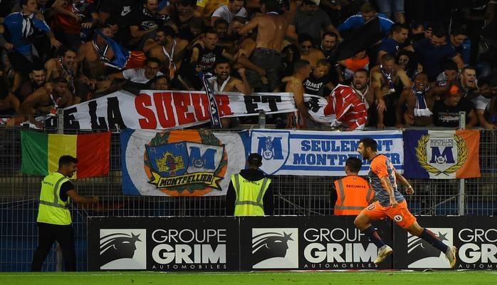 Футбольный матч чемпионата Франции был дважды приостановлен из-за беспорядков болельщиков