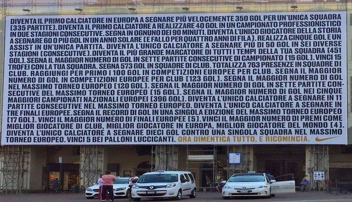 """""""Nike"""" Ronaldonun Yuventus karyerası üçün Nəhəng Afişalar yayımladı"""