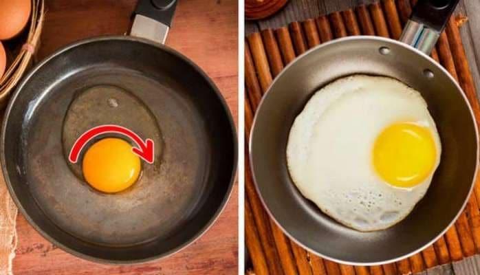 Yumurta bişirərkən tavaya niyə su əlavə edilir?