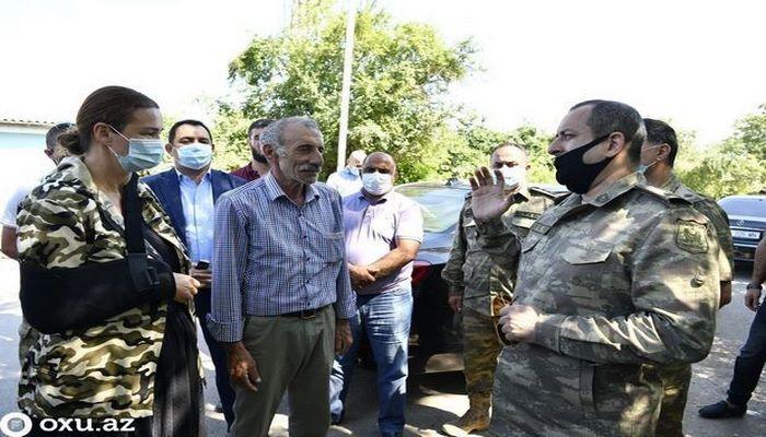 Депутаты Милли Меджлиса в селе Агдам