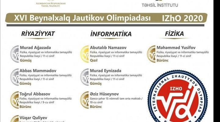 Məktəblimiz beynəlxalq müsabiqədə QIZIL medal qazandı