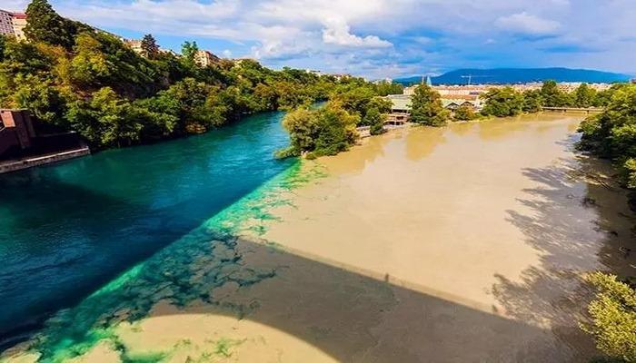 Dünyanın en sıra dışı yeri…Nehir birbirine karışmıyor, adeta kalemle çizilmiş gibi