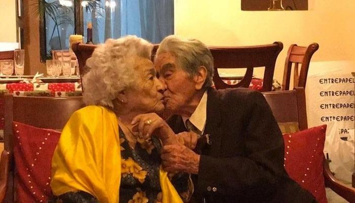 Dünyanın en yaşlı evli çifti olarak Guinness'e girdiler